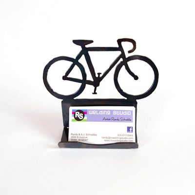 bicycle business cardholder | RS Welding Studio