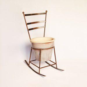 rocking chair planter | RS Welding Studio