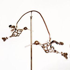 hummingbirds flying stake | RS Welding Studio