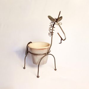 unicorn planter with pot | RS Welding Studio