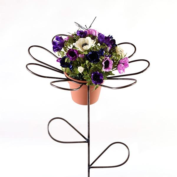 butterfly daisy flower holder   RS Welding Studio