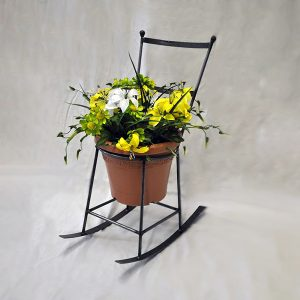 rocking chair planter | RS Welding Studio