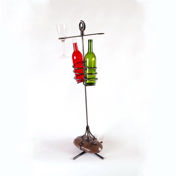 rock wine holder | RS Welding Studio